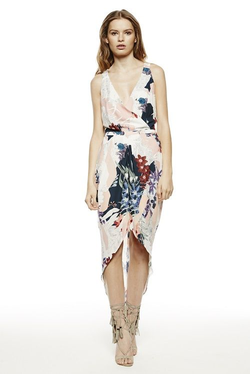 LAUGHING FOR LIFE DRAPE DRESS