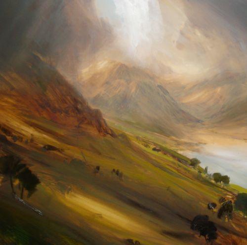 Lancashire Hills Oil Lanscape Paintings