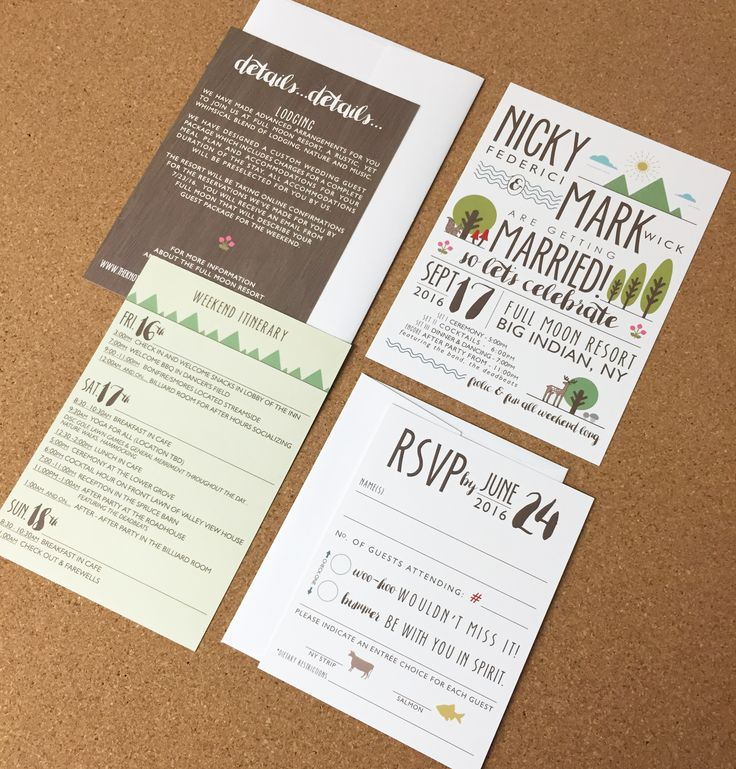 champagne blush wedding invitations%0A Wedding Invite  Modern  Fun  Outdoors  Camping  Woodland  Animals  Rustic