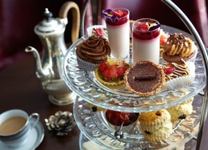 Afternoon tea at The May Fair Hotel  Quince resturant London.