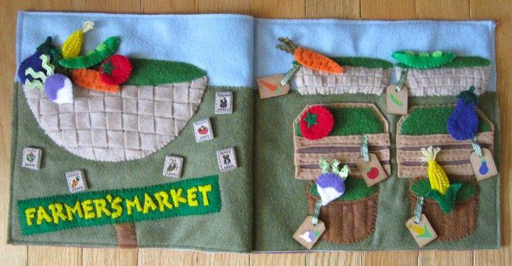 Farmer's Market Quiet Book Page w/ free pattern