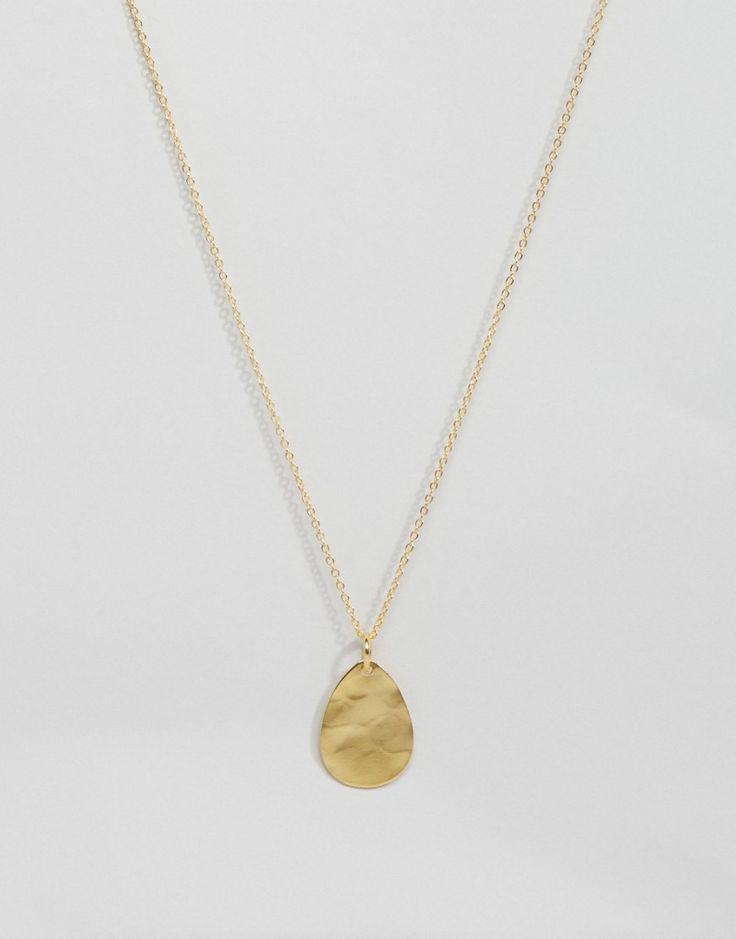 Image 1 ofOttoman Hands Gold Plated Teardrop Pendant