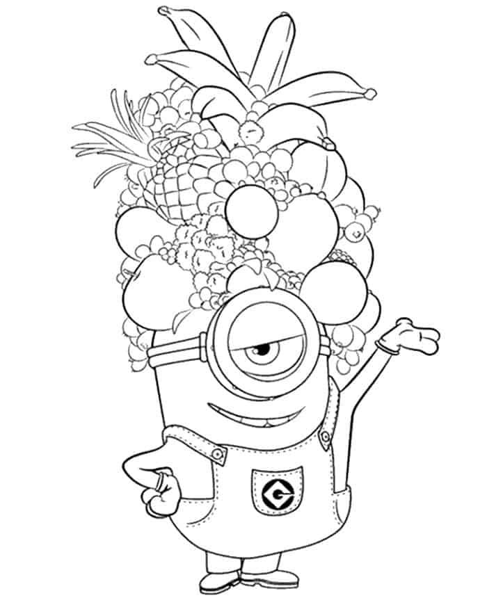 Minion Thanksgiving Coloring Pages Minions Coloring Pages Minion Coloring Pages Cartoon Coloring Pages