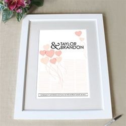 Personalized Wedding Signature Certificate with Frame