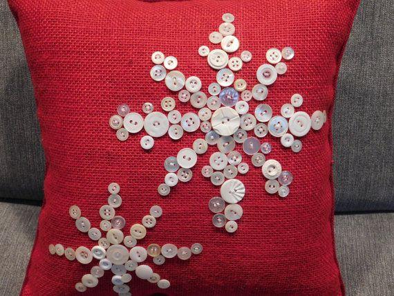 Christmas Pillow Holiday Pillow Snowflake Pillow Christmas