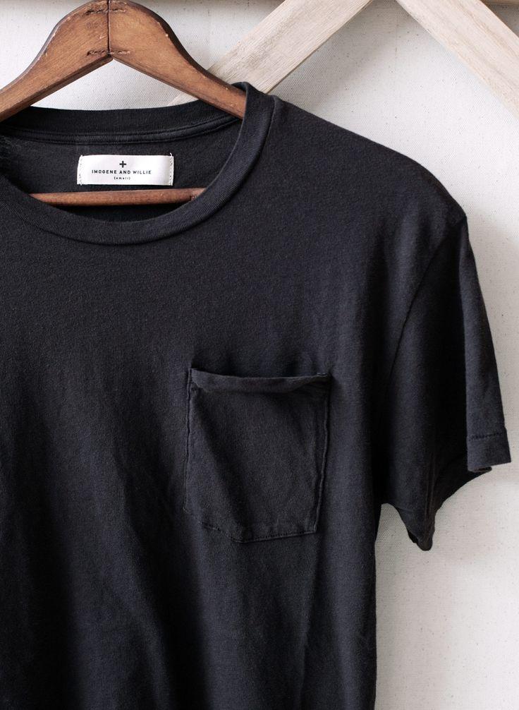 Lots of plain black pocket tees or with no pockets