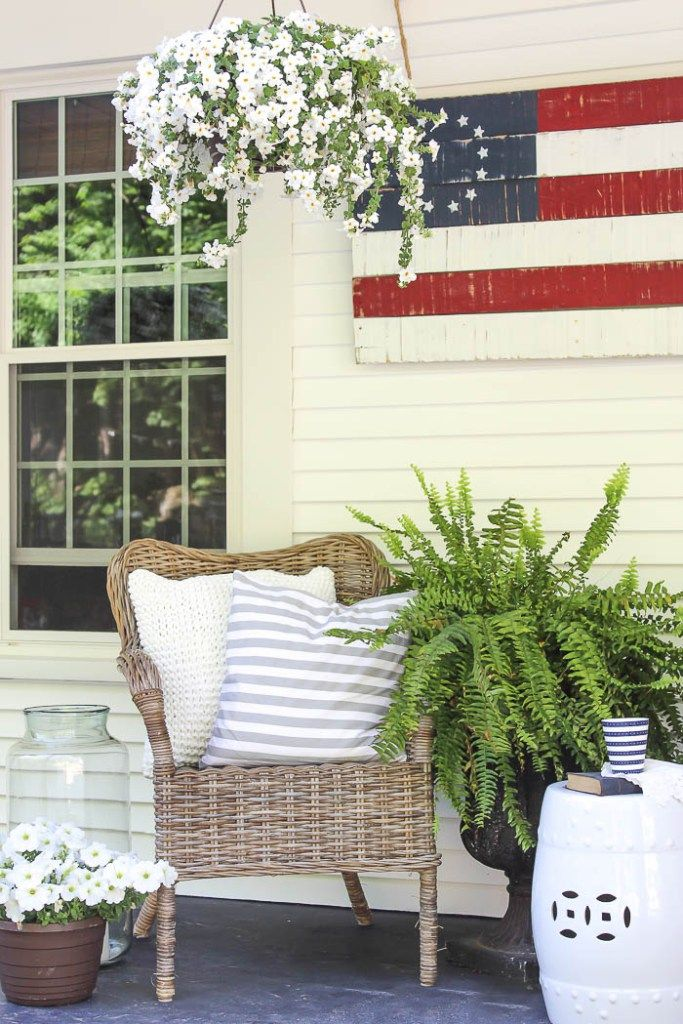 204 best images about patriotic porches on pinterest july crafts porch ideas and front porches. Black Bedroom Furniture Sets. Home Design Ideas
