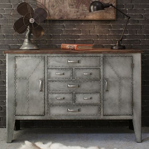 industrial metal furniture. modern home furniture industrial aviation urban chic style metal wood sideboard