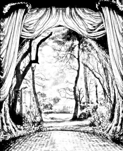 natuurtoneel met afbeeldingen zwart wit kleurplaten