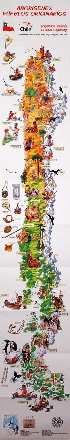 Indigenous People of Chile Map