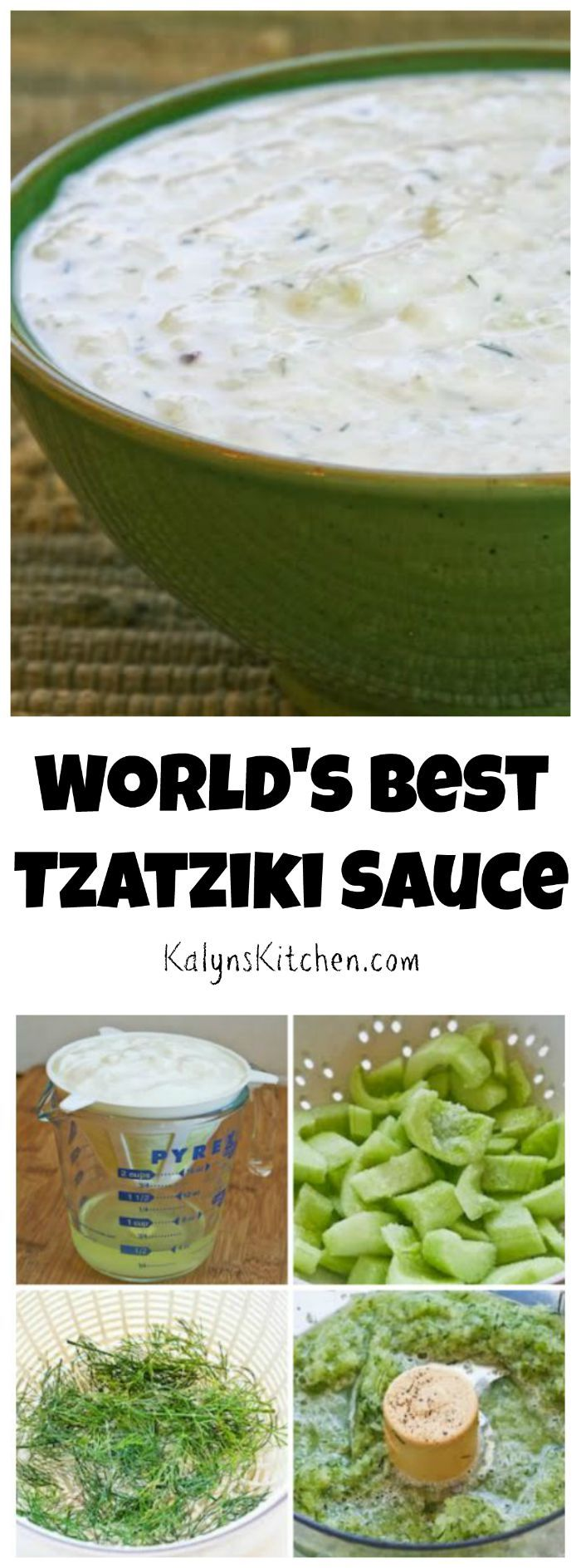 How to Make the World's Best Tzatziki Sauce (Greek Yogurt and Cucumber Sauce)