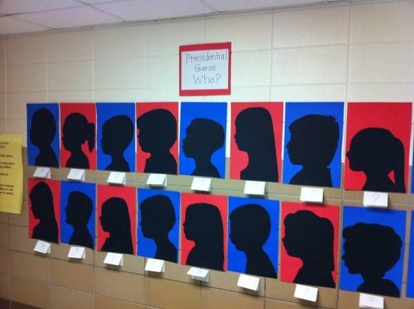 Presidents Day Guess Who?   Kindergarten Silhouettes