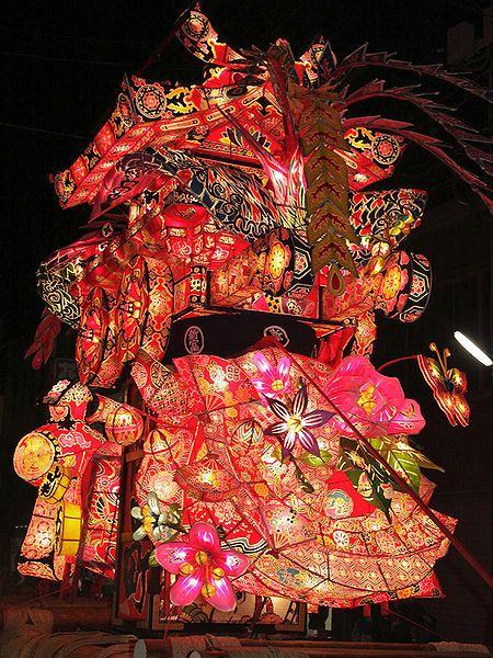 Tonami Yotaka Lantern Festival, Toyama, Japan