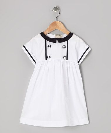 Take a look at this White & Navy Anchor Button Dress - Infant & Toddler by P'tite Môm on #zulily today!*****