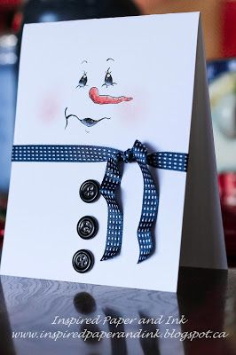 Inspired Paper and ink: Hand painted snowman cards