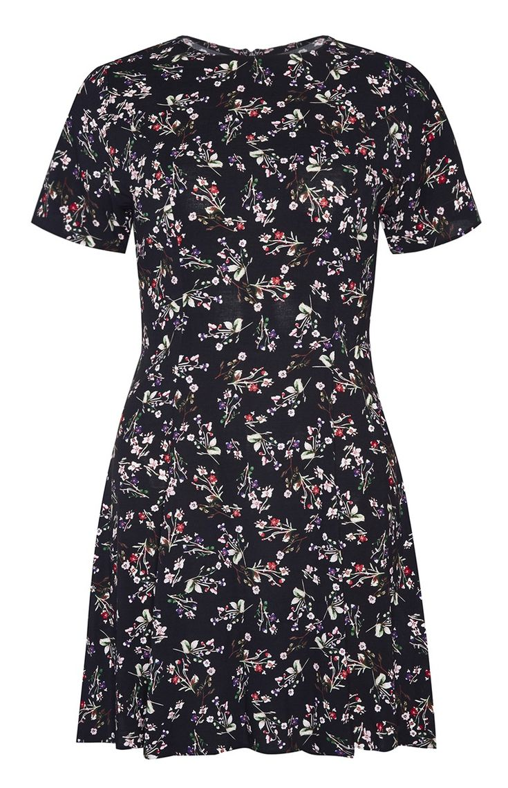 *PRIMARK || Black flower flare dress | Vestido negro de flores