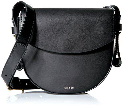 Skagen Lobelle Leather Saddle Bag-Black - http://www.darrenblogs.com/2017/03/skagen-lobelle-leather-saddle-bag-black/
