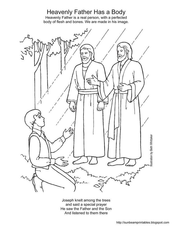 Sunbeam Printables: Coloring Page for Lesson 2: Heavenly ...