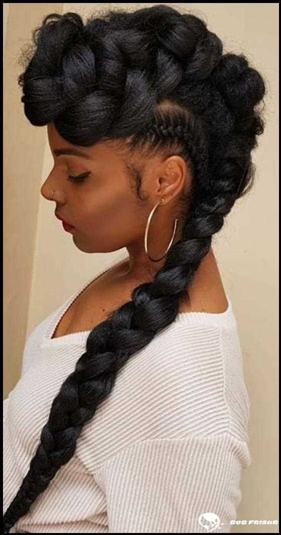 Pure hairstyles for little ladies utilizing jumbo hair and braids.