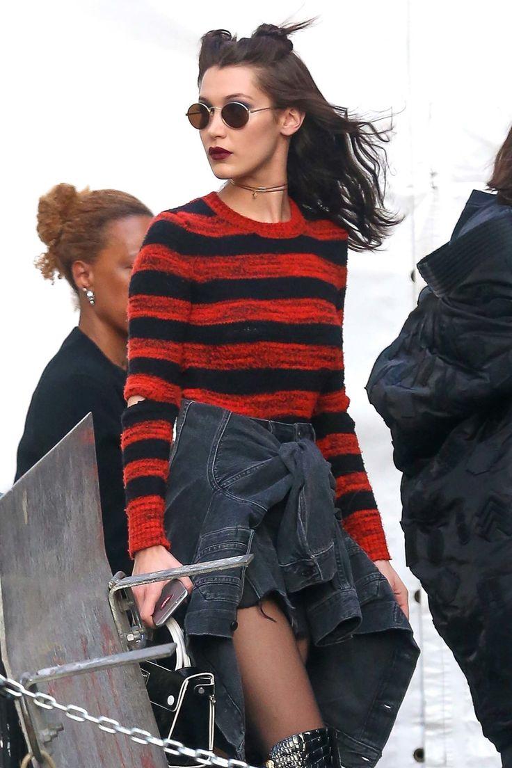 Kendall Jenner, Gigi Hadid, and Bella Hadid Take Their Anna Sui Runway Hair to the Street