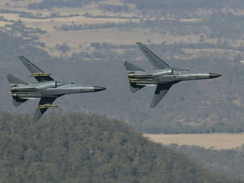 RAAF F-111G (left) and F-111C (right).