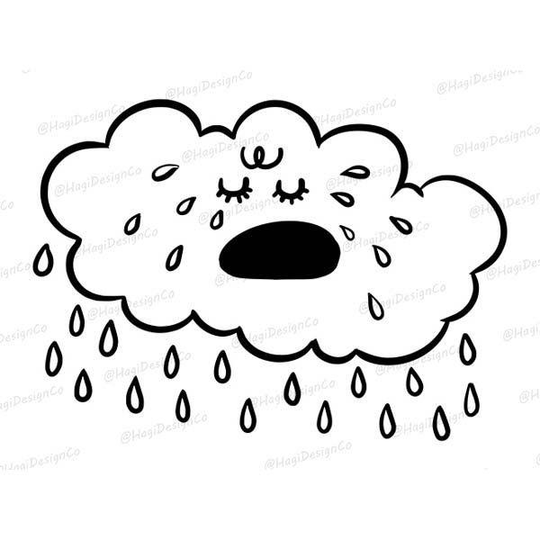 Cry Cloud Clipart Png Digital Instant Download Graphic Arts Weather Designs Rain Cloud Outline Cloud Illustr Love Doodles Cloud Clipart Cloud Illustrations