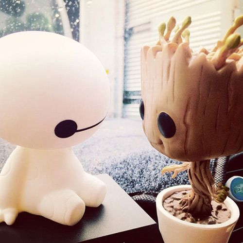 Baby Groot meets Baby Baymax.