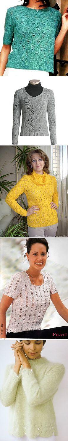 Пуловеры спицами 208