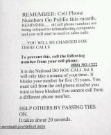 Cell Phone Numbers Go Public This Month? - Urban Legends