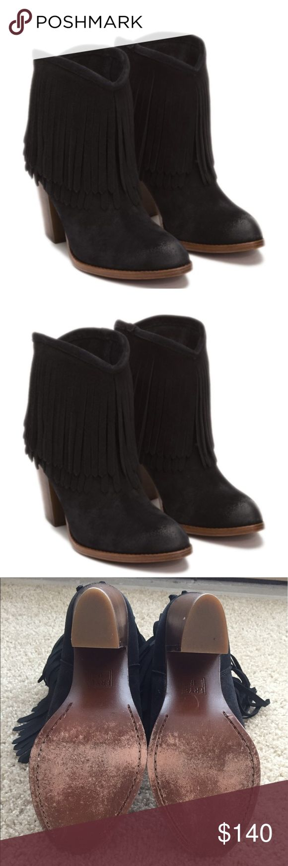 The Frye Company Ilana fringe short boot Classic western meets fun fringe in the Ilana Short boot from Frye! This suede boot is layered with long fringe & features a leather stacked heel that gives it an added flare. Frye Shoes Ankle Boots & Booties