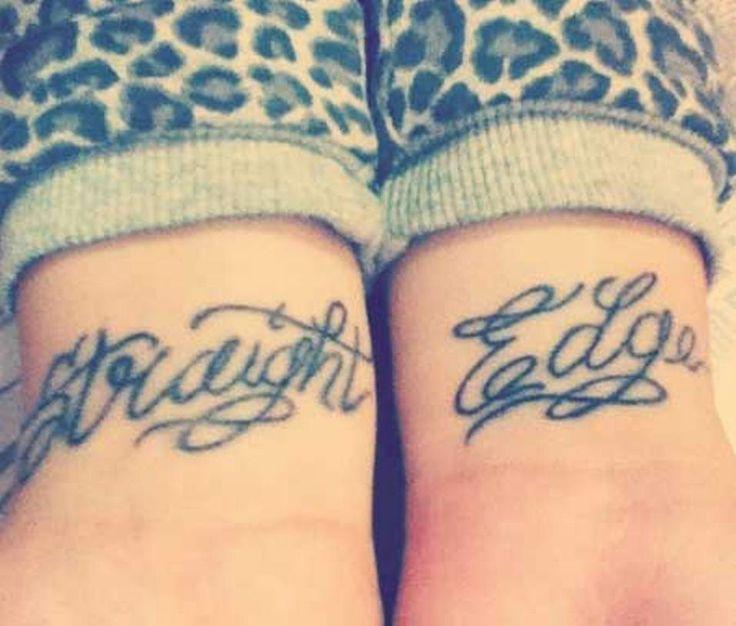 Straight Edge Tattoos Images - http://tattoomirror.com/straight-edge-tattoos-images/?Pinterest