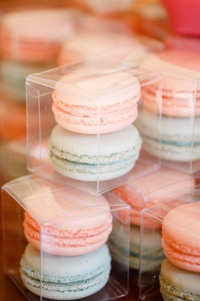Macaroon Wedding Favors. Cute color.