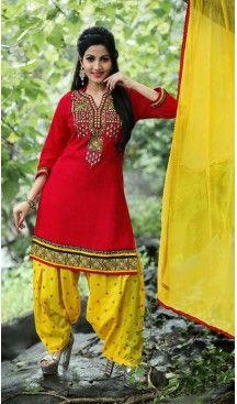 Red Color Cotton Straight Cut Punjabi Patiyala Suit | FH527679748 #punjabi , #patiyala, #shindhi, #suits, #narrow, #dresses, #salwar, #kameez, #straight, #long, #heenastyle, #indian, #online, #shopping, #clothing, #womens, #girls, #style, #mode, #henna, #hina, #mehendi, #dupatta, #chudidar, @heenastyle , #pakistani, #readymade