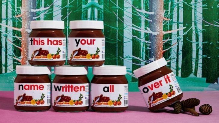 Personalised Nutella at UK's Selfridges.