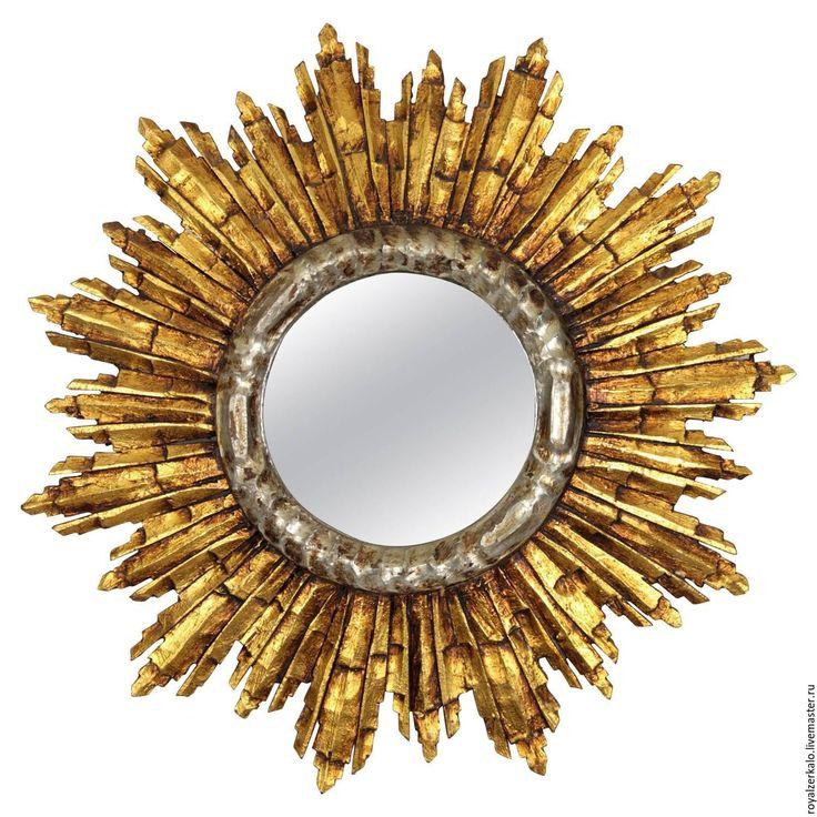 Купить Зеркало солнце Apollonia - золотой, зеркало настенное, зеркало солнце, интерьер, дизайн интерьера