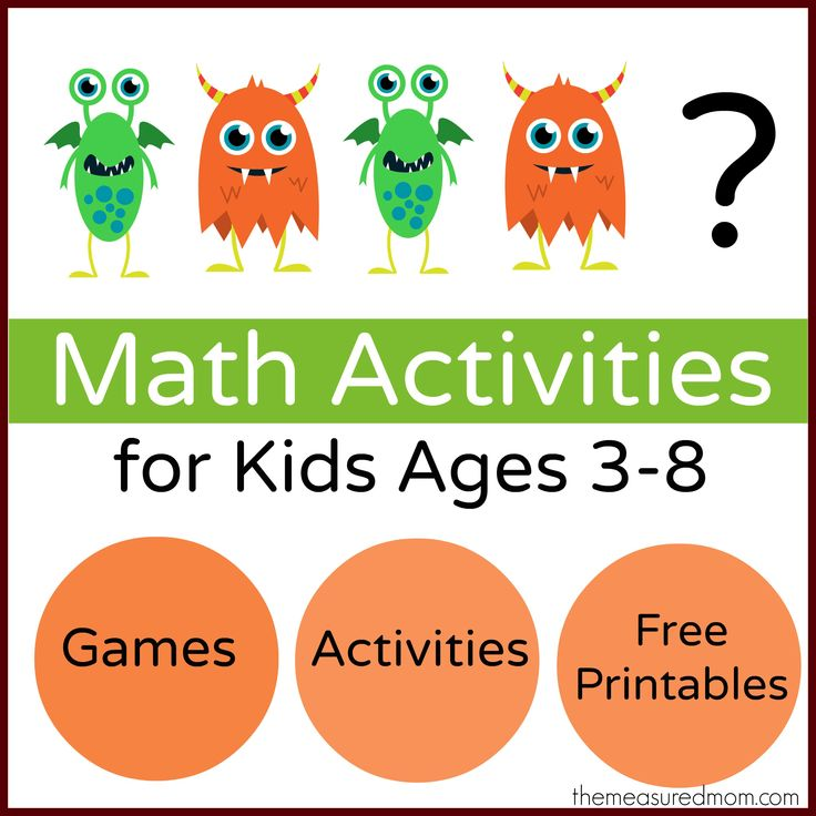 Math Activities for Kids the measured mom Monster Math Games & Activities with loads of free printables for preschool, kindergarten, and f...