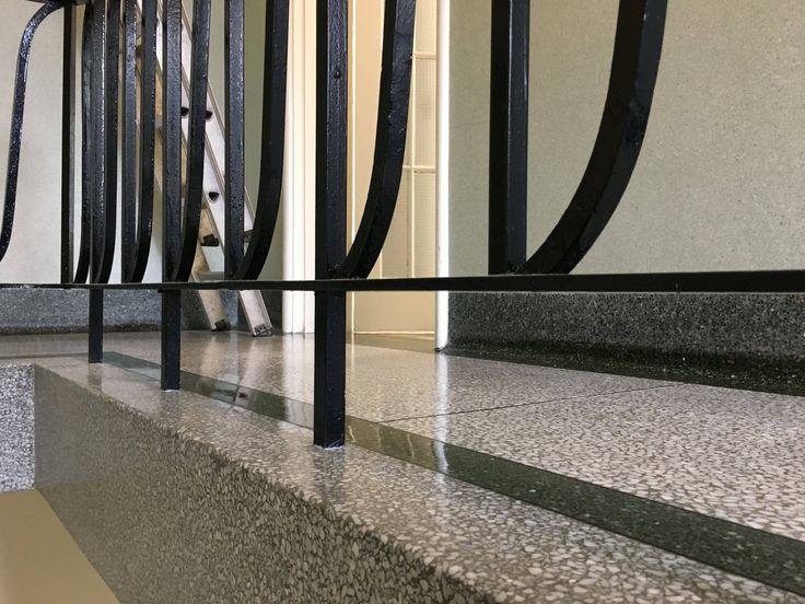 Terrazzo floor restoration and diamond polishing East Sussex