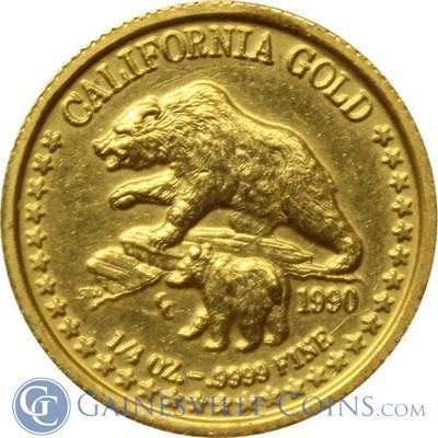 1990 1 4 Oz California Gold Bear Http Www