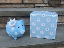 Piggy Bank Mud Pie Baby Crown Prince Big Ceramic Nice Gift NEW