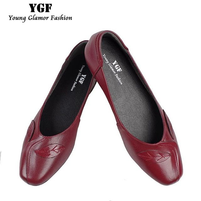 Special offer YGF Women Flats Genuine Leather Shoes Slip on Loafers Ladies Flat Shoes Round Toe Comfortable Soft Leather Mother Shoes just only $21.82 with free shipping worldwide  #womenshoes Plese click on picture to see our special price for you