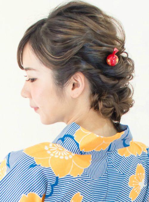 手ぶらでOK☆ 【浴衣レンタル有り】(髪型ミディアム)