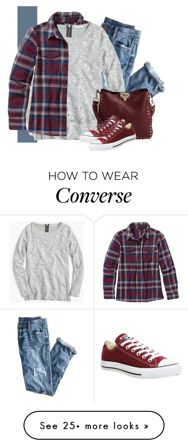 """Casual Day"" by boho-at-heart on Polyvore featuring Patagonia, J.Crew, Valentino and Converse"