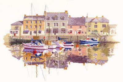 Harbour Reflections - John Clayton Cross Stitch