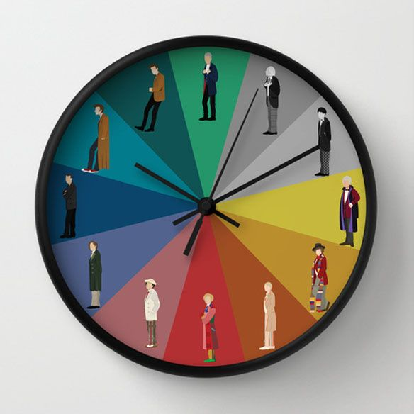 Doctor Who Wall Clock - ok so I made this with the war doctor, and i really need to make another one