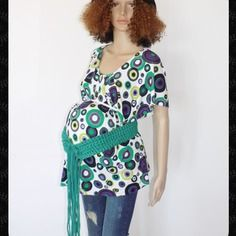 Original tres joli ceinture de grossesse !! greeny !! en coton - vert t: long 193cm x 8cm belicious-delicious-creation