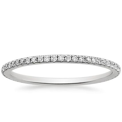 Platinum Eternity Whisper Diamond Ring from Brilliant Earth Like the simple thin band!