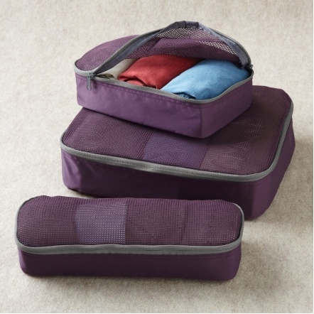 Set of 3 TravelSmith Smart Packs - keeping your suitcase organized