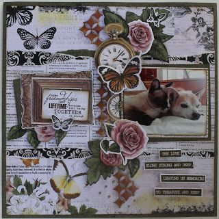 Kaisercraft's Treasured Moments collection ShelbyDoodle Designs: Forever Friends Layout