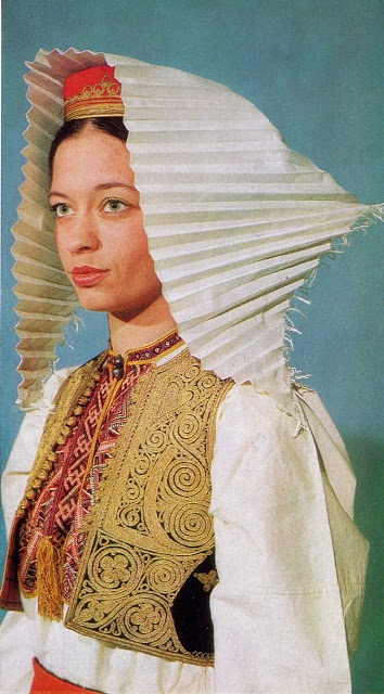 Costume of South Dubrovnik County, Konavlje, Čilipi, Dalmatia, Croatia