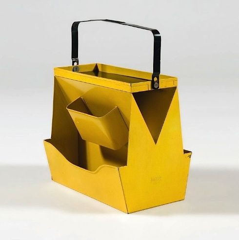 // Wilhelm Kienzle; Enameled Metal Tool Caddy for MEWA, c1950.